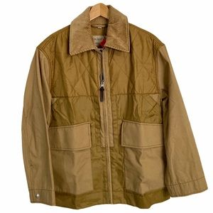 Burberry Men's Brown Quilted Jacket - Size S